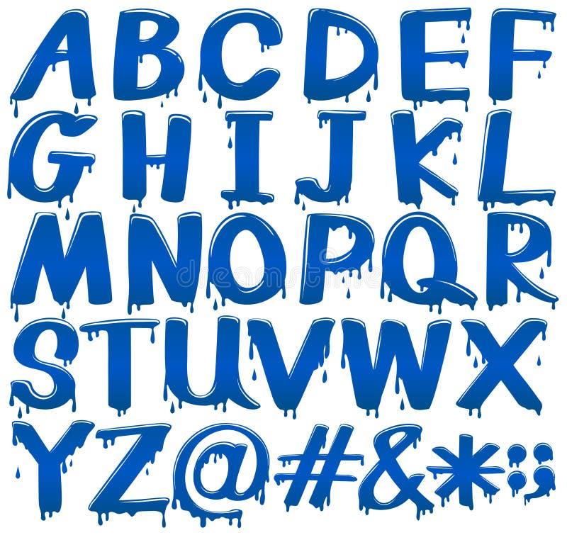 Progettazione della fonte per gli alfabeti ed i segni illustrazione di stock