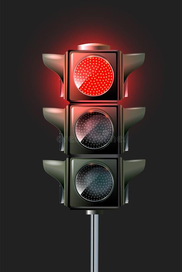 Progettazione della lampada di traffico di vettore illustrazione di stock