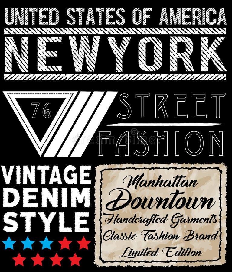 Progettazione della maglietta di tipografia di Newyork royalty illustrazione gratis