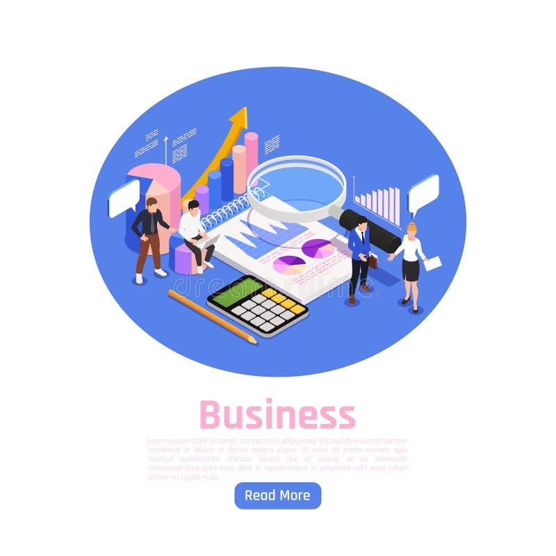 Progettazione della pagina della gestione di impresa royalty illustrazione gratis
