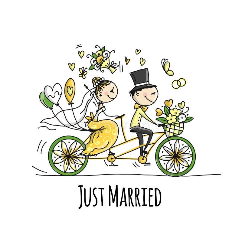 Progettazione della partecipazione di nozze guida dello sposo e della sposa sulla bicicletta - Programmi progettazione casa gratis ...