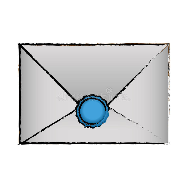 progettazione della posta e della busta illustrazione di stock