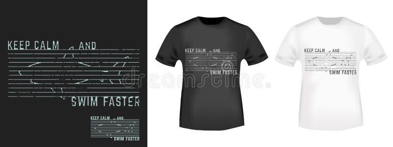 Progettazione della stampa della maglietta illustrazione di stock