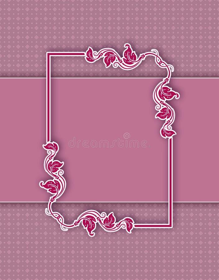 Progettazione della struttura del modello per la cartolina d'auguri illustrazione di stock