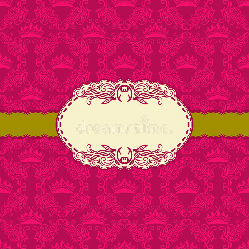 Progettazione della struttura del modello per la cartolina d'auguri. royalty illustrazione gratis