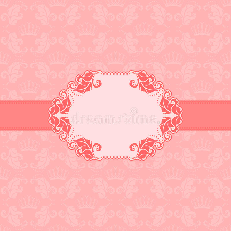 Progettazione della struttura del modello per la cartolina d'auguri. illustrazione di stock
