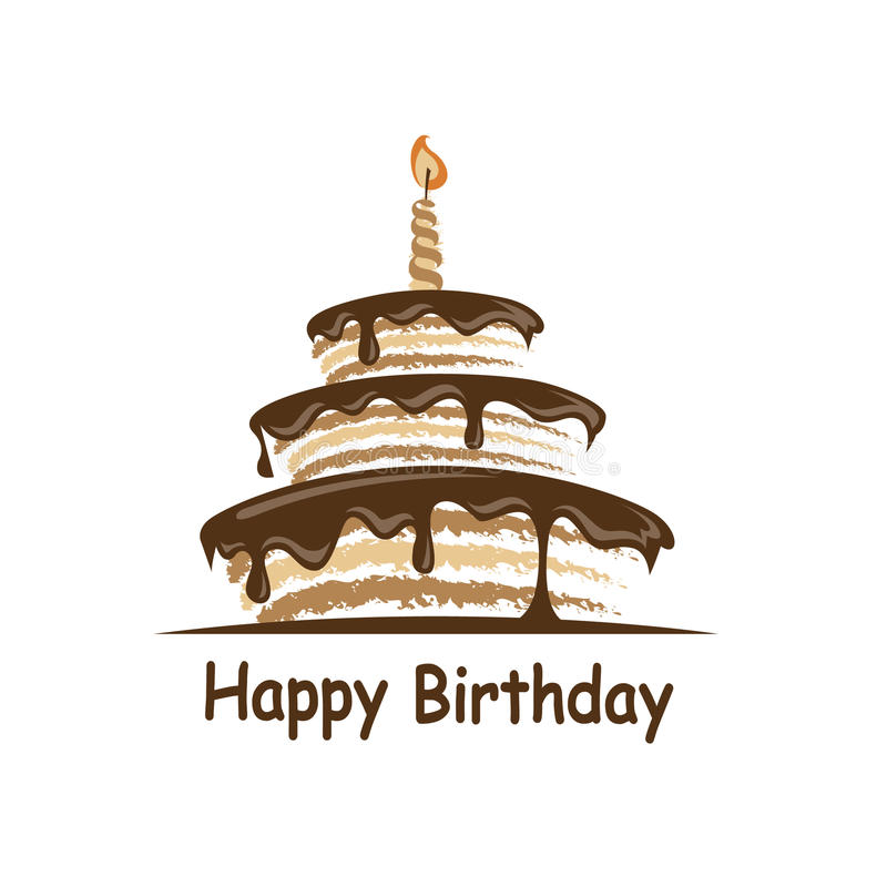 Progettazione della torta di compleanno royalty illustrazione gratis