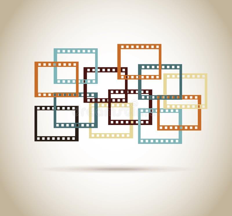 Progettazione della videocassetta illustrazione vettoriale