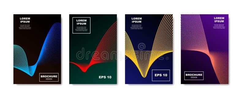 Progettazione delle coperture dell'estratto di Minimalistic Modello geometrico di semitono futuro di pendenze per l'insegna, cart illustrazione vettoriale