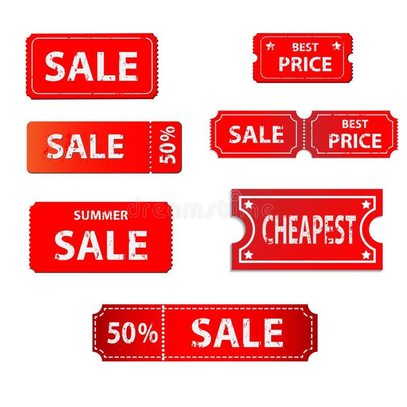 Progettazione delle etichette di vendita royalty illustrazione gratis