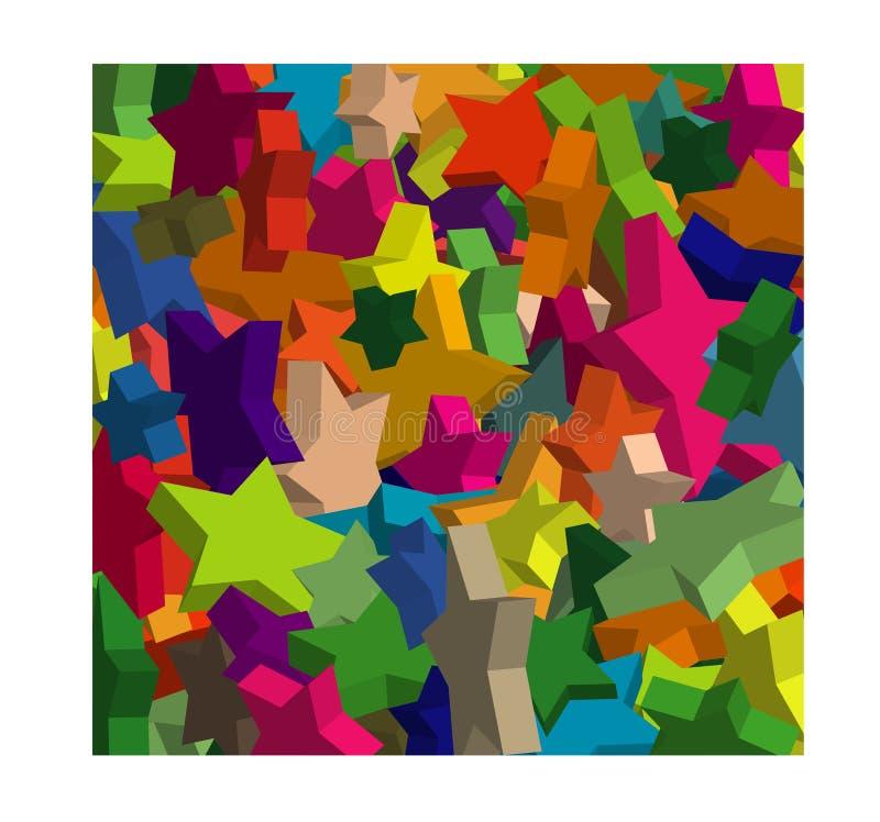 Progettazione delle stelle 3d illustrazione vettoriale