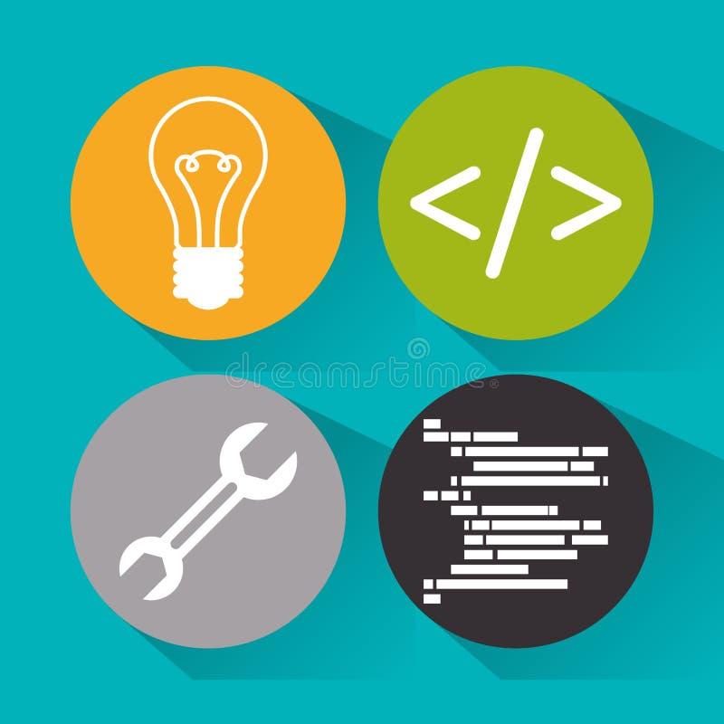 Progettazione dello sviluppatore web illustrazione di stock