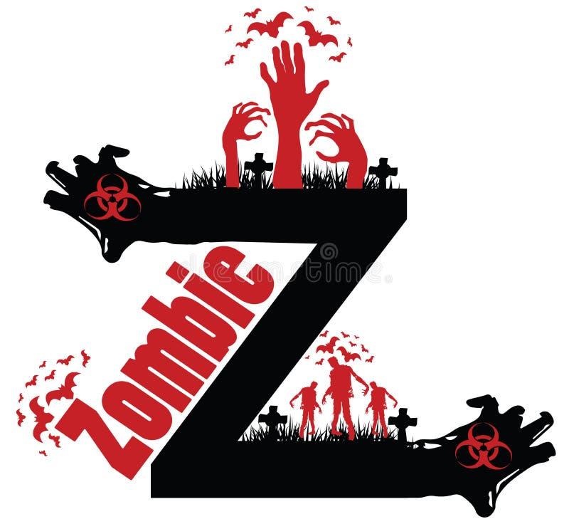 Progettazione dello zombie fotografia stock