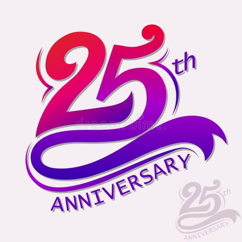 Progettazione di anniversario, segno di celebrazione del modello illustrazione vettoriale