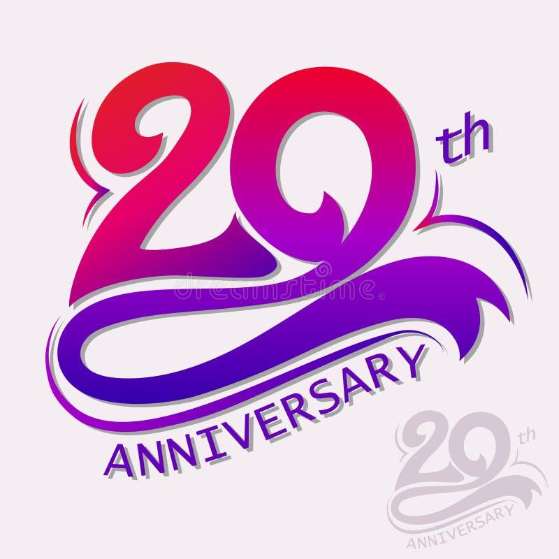 Progettazione di anniversario, segno di celebrazione del modello royalty illustrazione gratis