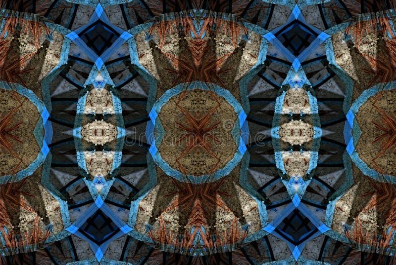 Progettazione di arte di Digital, spezie in un caleidoscopio visto attraverso bazar illustrazione vettoriale