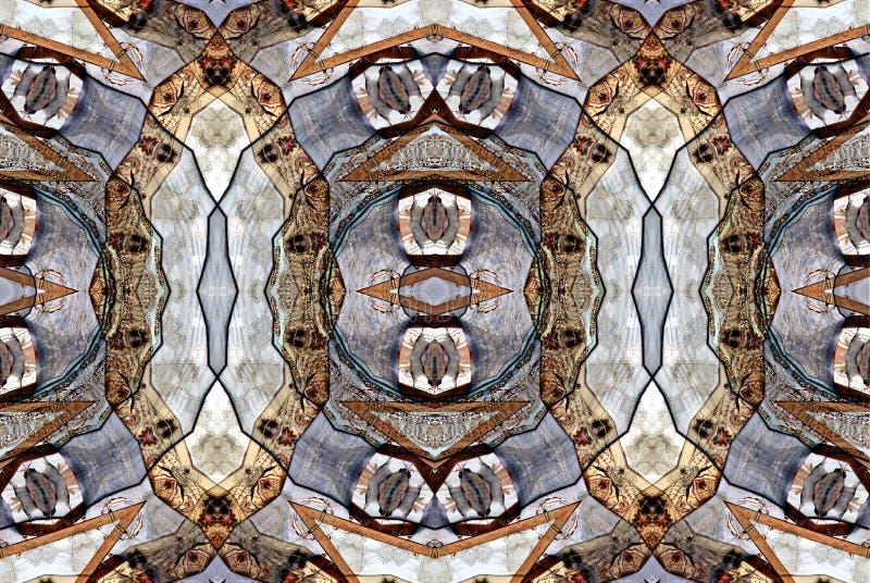 Progettazione di arte di Digital, vestiti in un caleidoscopio visto attraverso bazar royalty illustrazione gratis