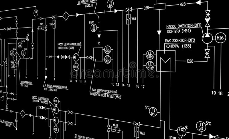 Progettazione di automazione di ingegneria fotografia stock libera da diritti