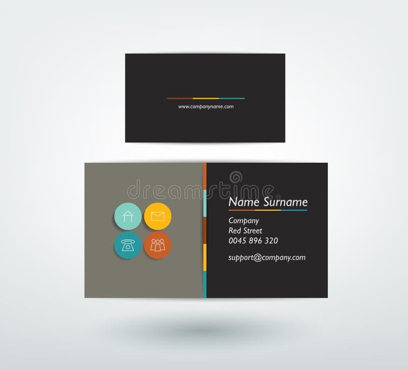 Progettazione di biglietto da visita royalty illustrazione gratis