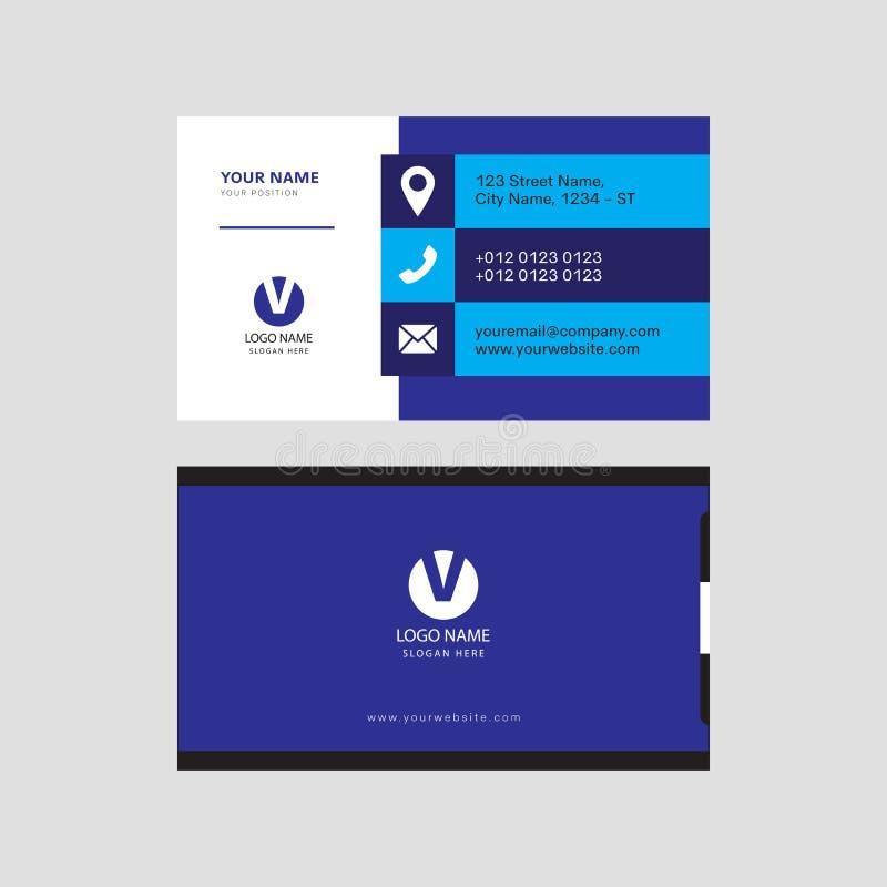 Progettazione di biglietto da visita creativa professionale moderna semplice illustrazione vettoriale