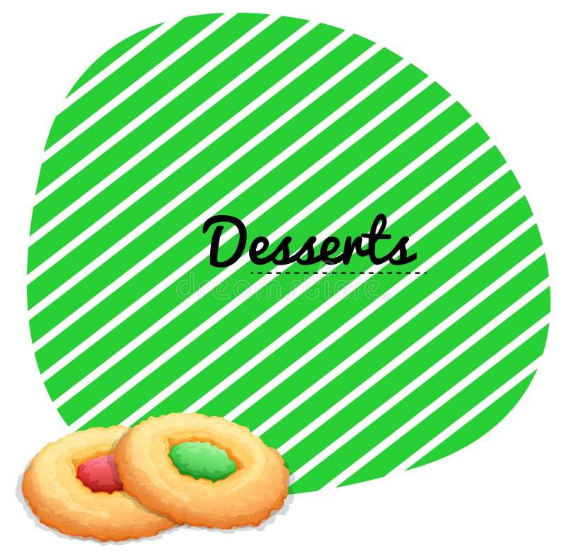 Progettazione di carta con i biscotti illustrazione for Progettazione di idee di scantinato