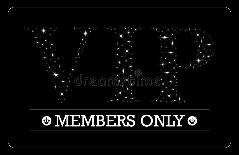 Progettazione di carta dei membri di VIP soltanto royalty illustrazione gratis