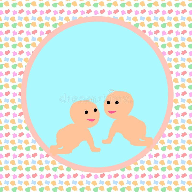 Progettazione di carta del bambino illustrazione di stock