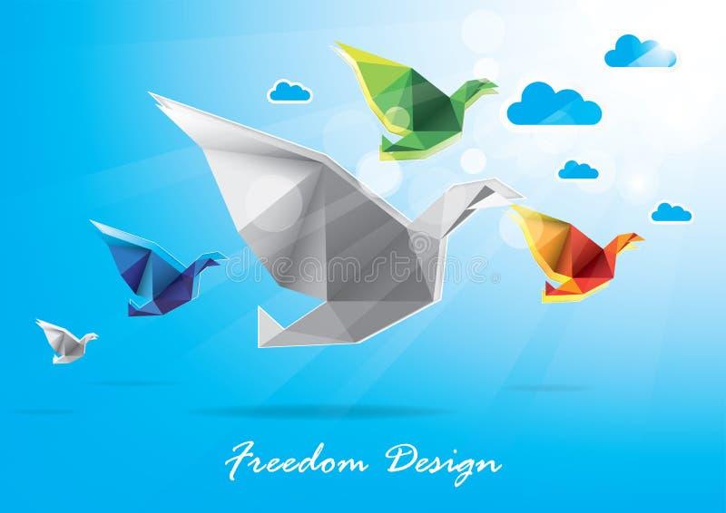 Download Progettazione Di Carta Di Libertà Illustrazione Vettoriale - Illustrazione di grafico, colomba: 56883699