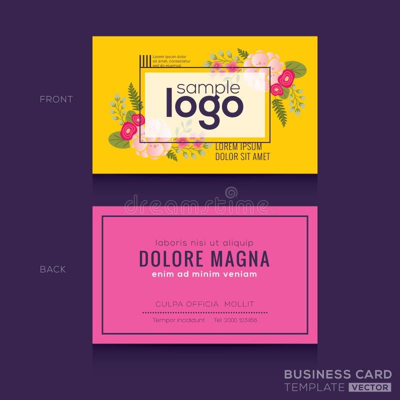 Progettazione di carta floreale sveglia di nome del biglietto da visita del modello royalty illustrazione gratis