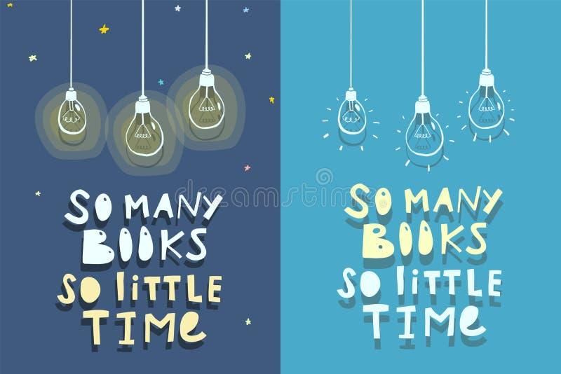 Progettazione di citazione dei libri illustrazione di stock