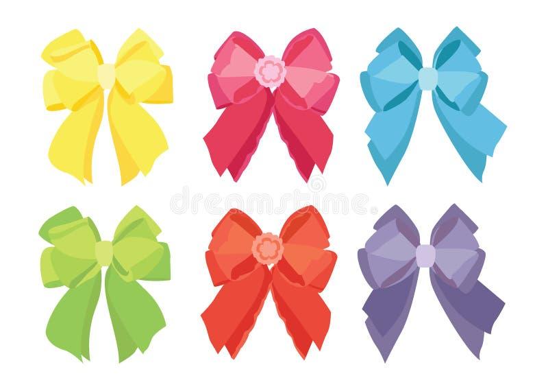 Progettazione di colore dell'arco ed arco multicolore variopinti su fondo bianco illustrazione vettoriale
