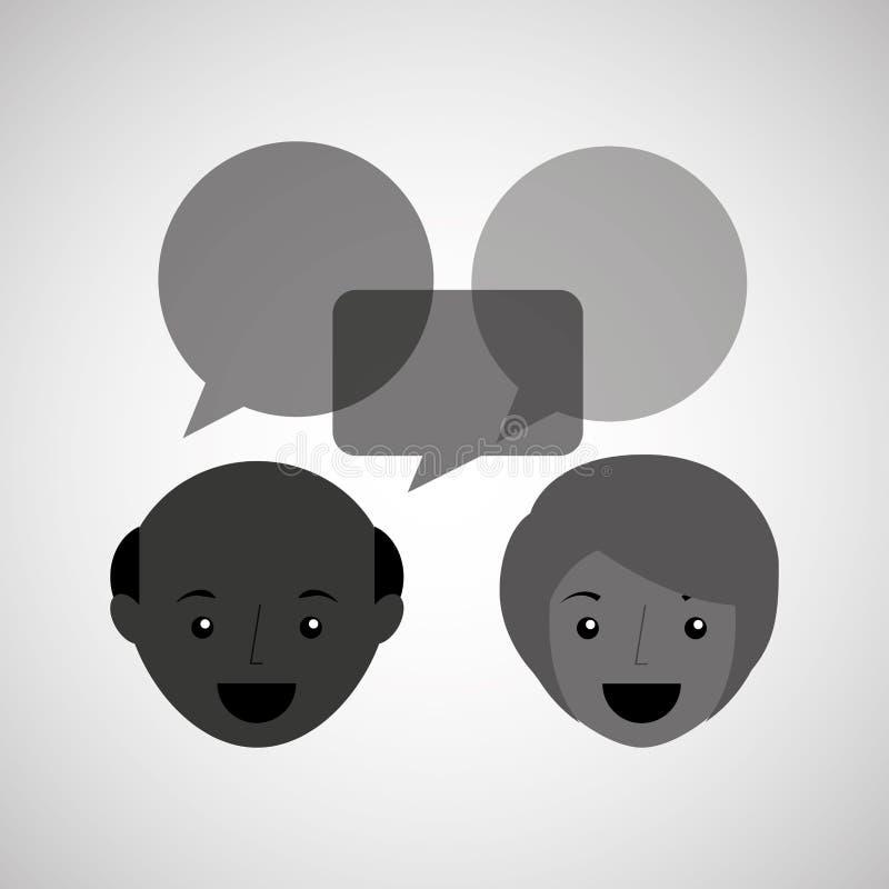 progettazione di conversazione della gente royalty illustrazione gratis