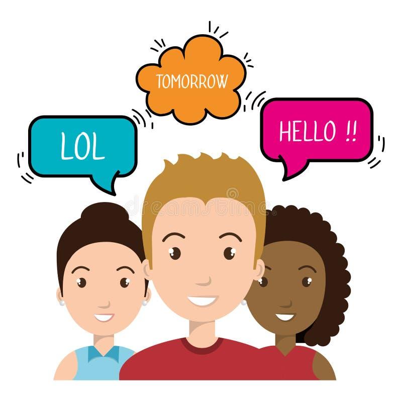 progettazione di conversazione della gente illustrazione di stock