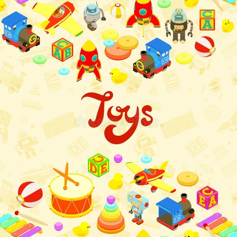 Progettazione di decorazione di vettore fatta dei giocattoli royalty illustrazione gratis
