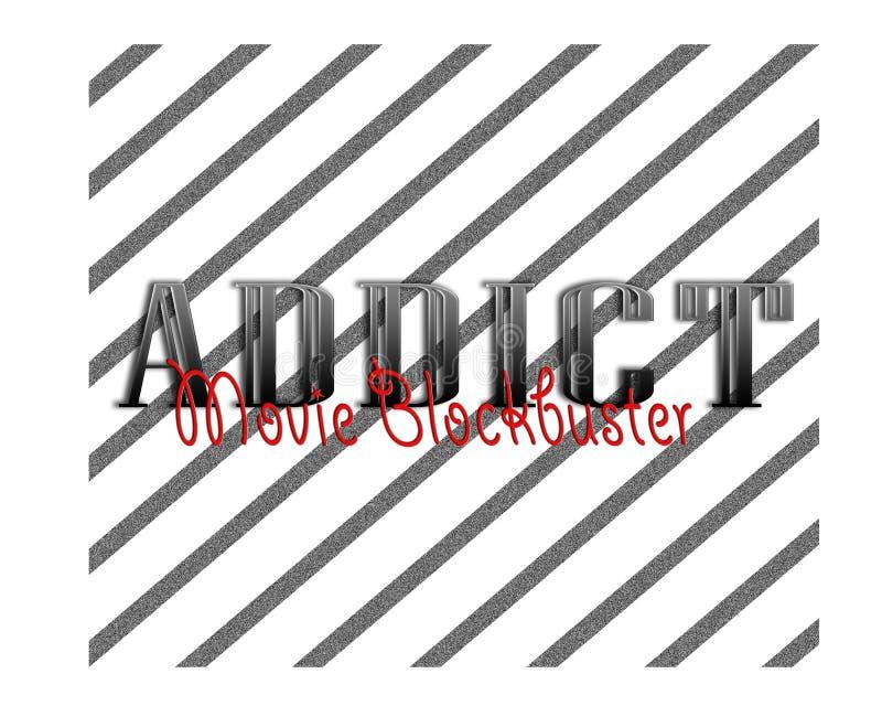 Progettazione di fan di immagine di logo del fondo del successone di film fotografie stock