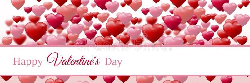 Progettazione di giorno di biglietti di S. Valentino con i cuori royalty illustrazione gratis