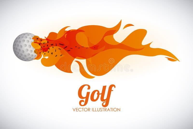 Progettazione di golf illustrazione di stock
