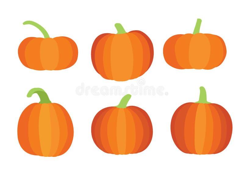 Progettazione di Halloween della zucca su fondo bianco royalty illustrazione gratis