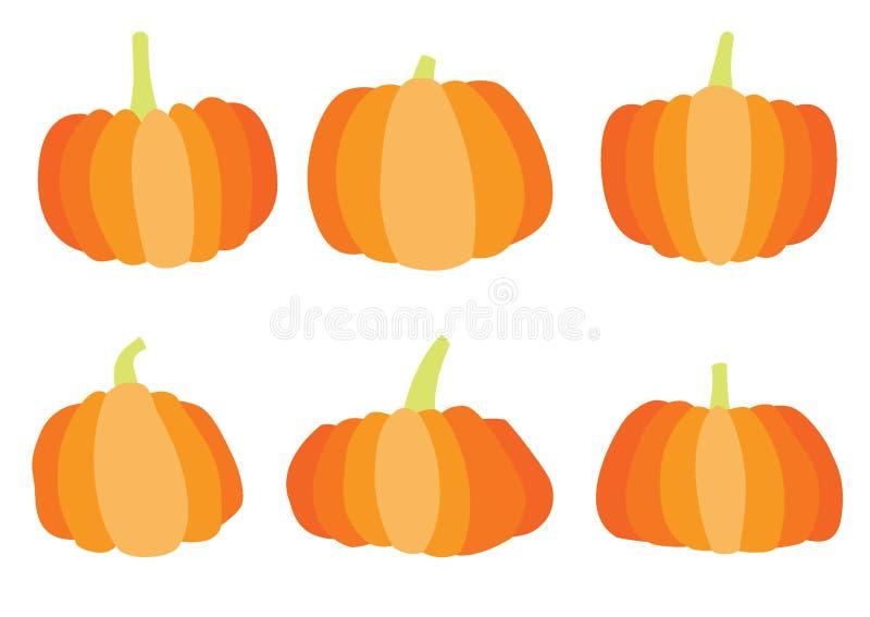 Progettazione di Halloween della zucca sul vettore bianco dell'illustrazione del fondo illustrazione vettoriale