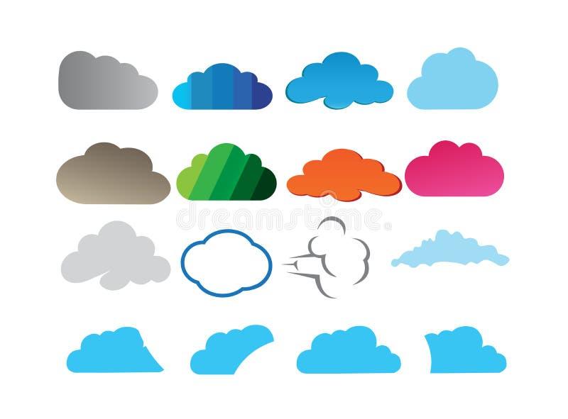 Progettazione di insieme delle nuvole per l'illustrazione di logo royalty illustrazione gratis