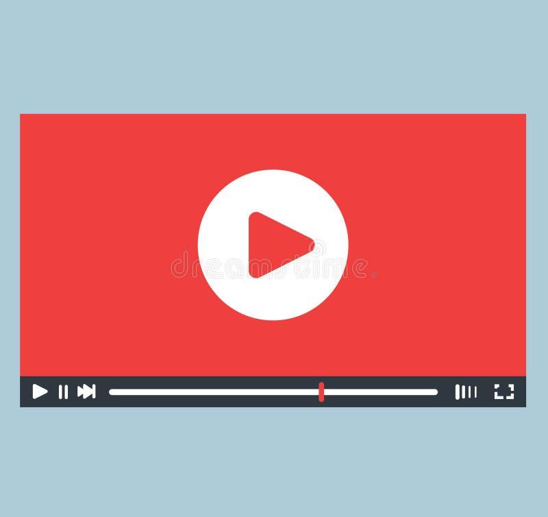 Progettazione di interfaccia del riproduttore video illustrazione di stock