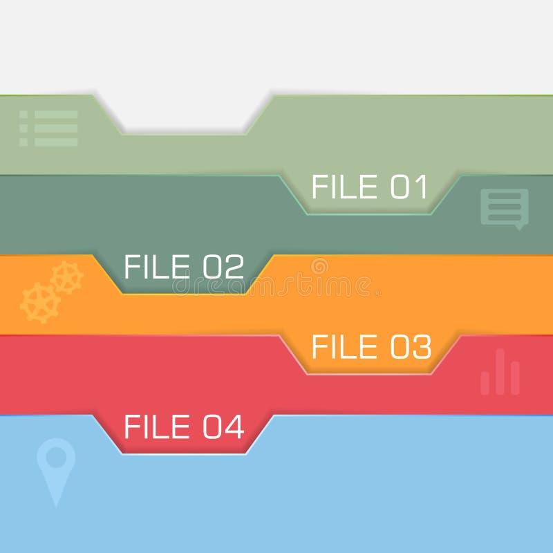 Progettazione di interfaccia piana - archivi da scegliere royalty illustrazione gratis