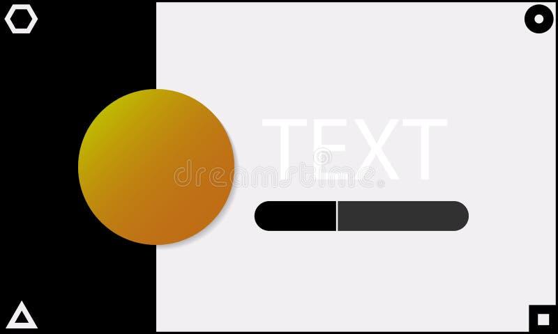 Progettazione di interfaccia di web illustrazione di stock