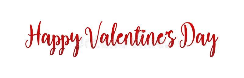 Progettazione di iscrizione felice di festa di San Valentino I biglietti di S. Valentino rossi mandano un sms a con la fonte di c illustrazione vettoriale