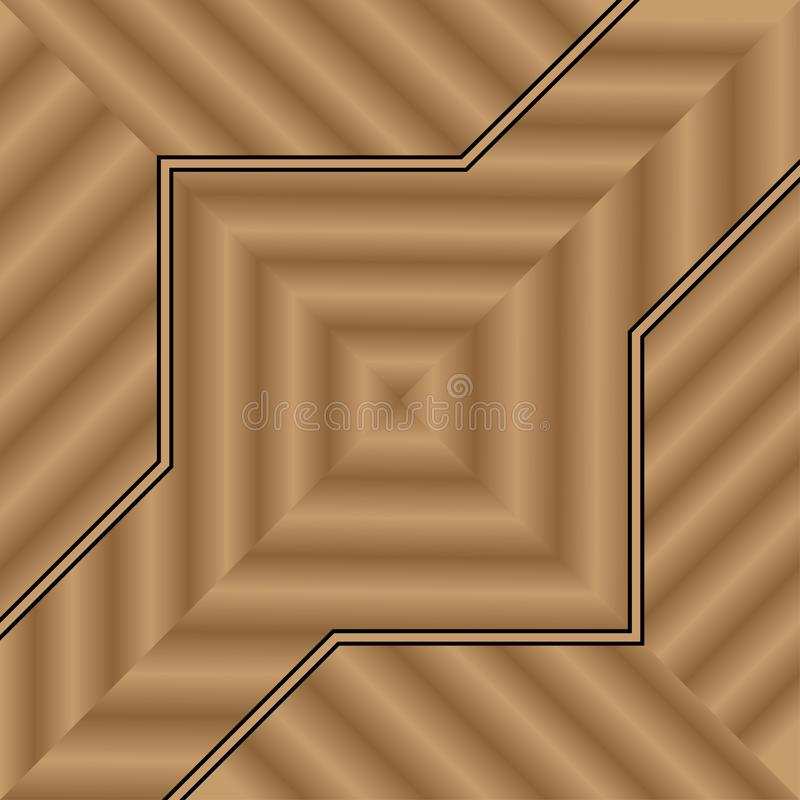 Progettazione di legno del fondo per la casa dell'interno del pavimento o della parete della decorazione illustrazione vettoriale