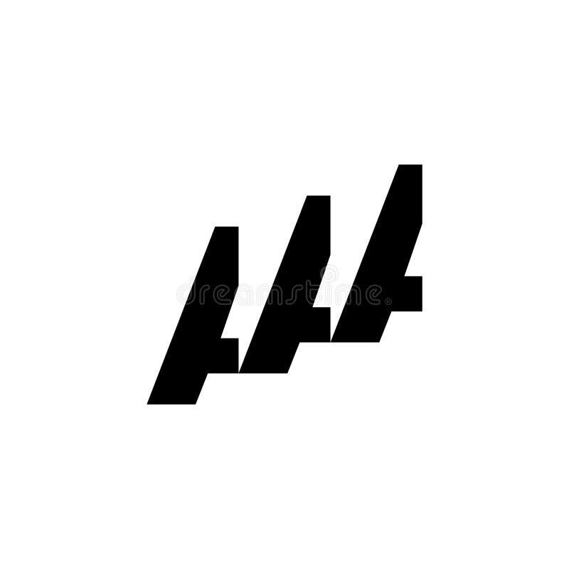 Progettazione di lettera di logo del AAA royalty illustrazione gratis