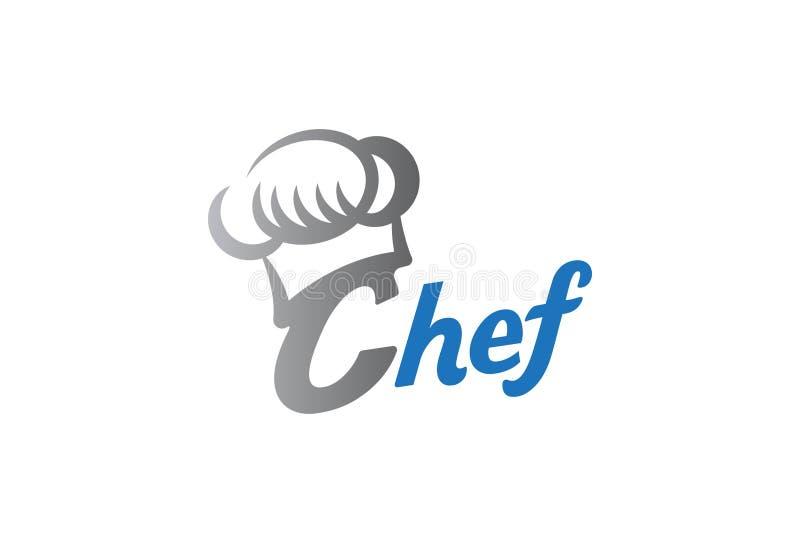 Progettazione di logo del cuoco unico illustrazione di stock