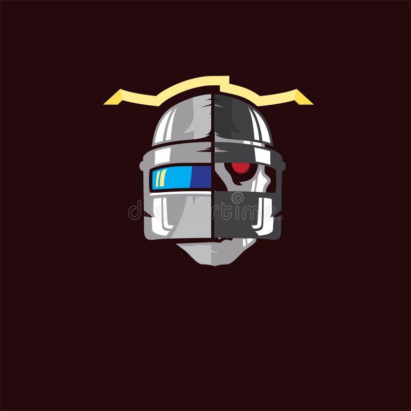 Progettazione di logo del esport di gioco del cranio immagine stock libera da diritti