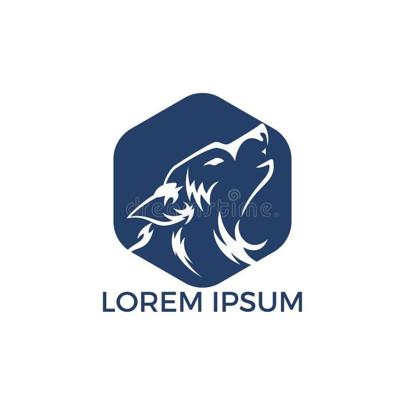 Progettazione di logo del lupo illustrazione di stock