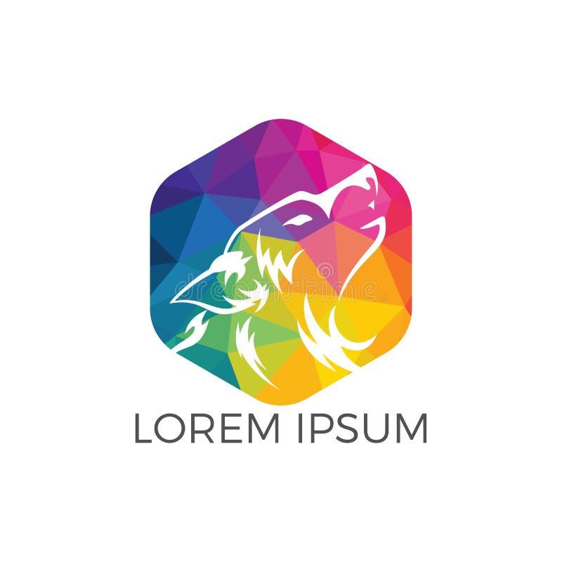 Progettazione di logo del lupo royalty illustrazione gratis